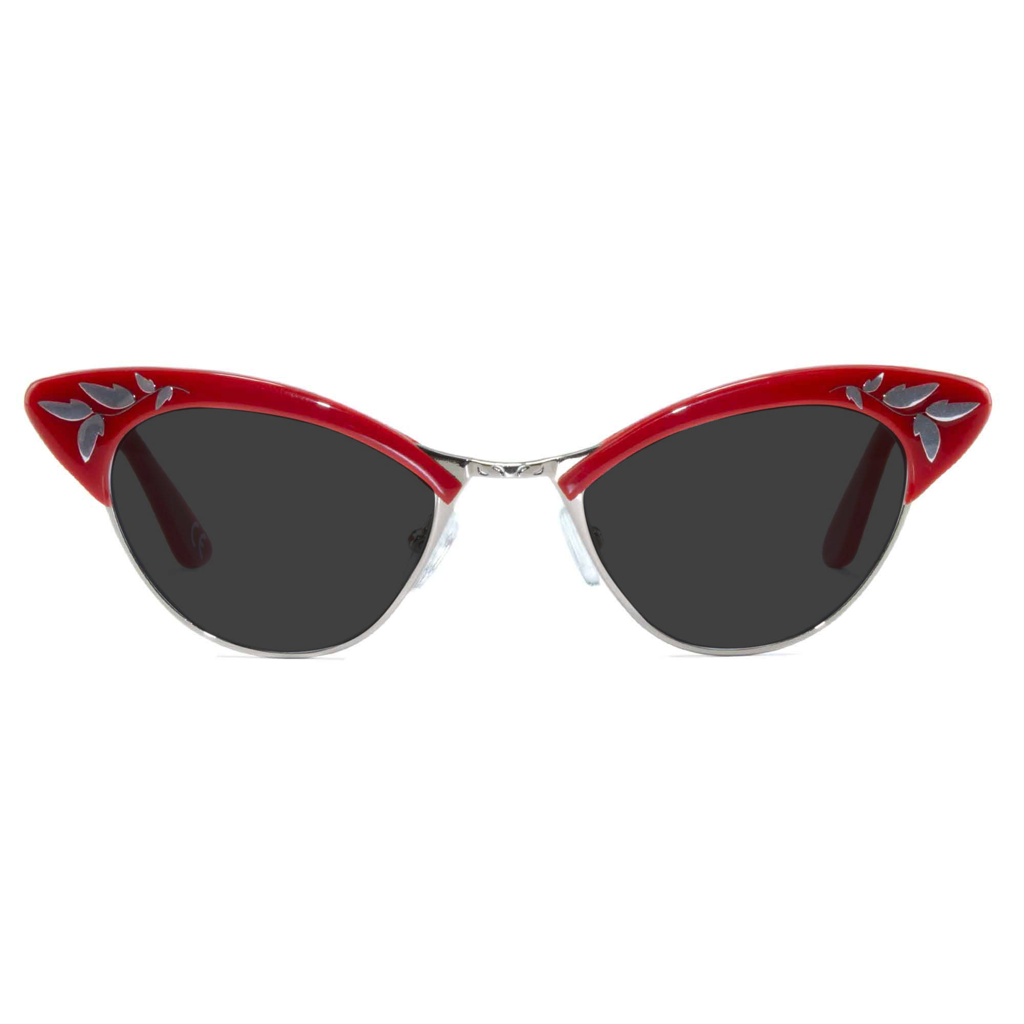 Joiuss rita red cat eye sunglasses