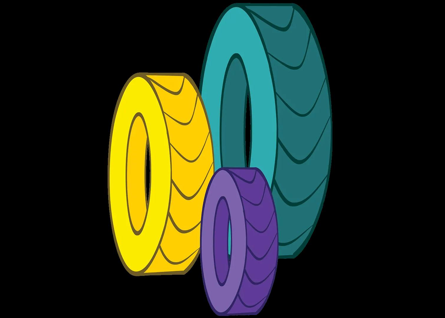 illustrated wheels