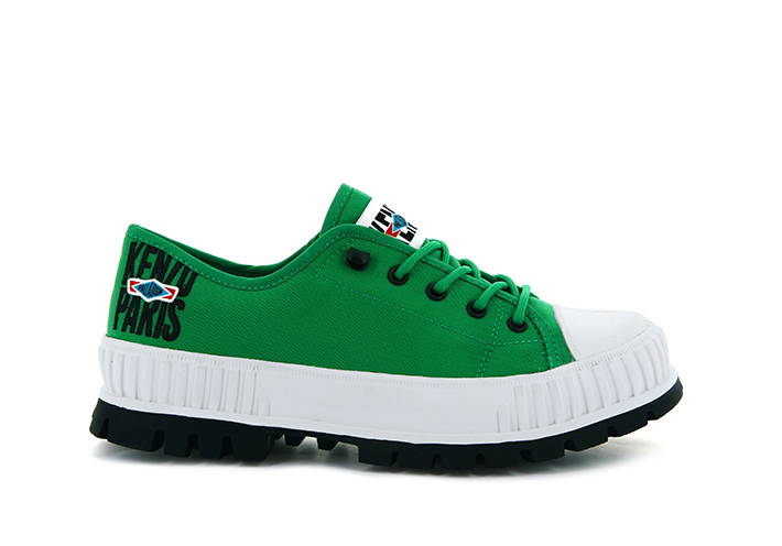 Image of Green Kenzo Palladium Pallashock Low Shoe