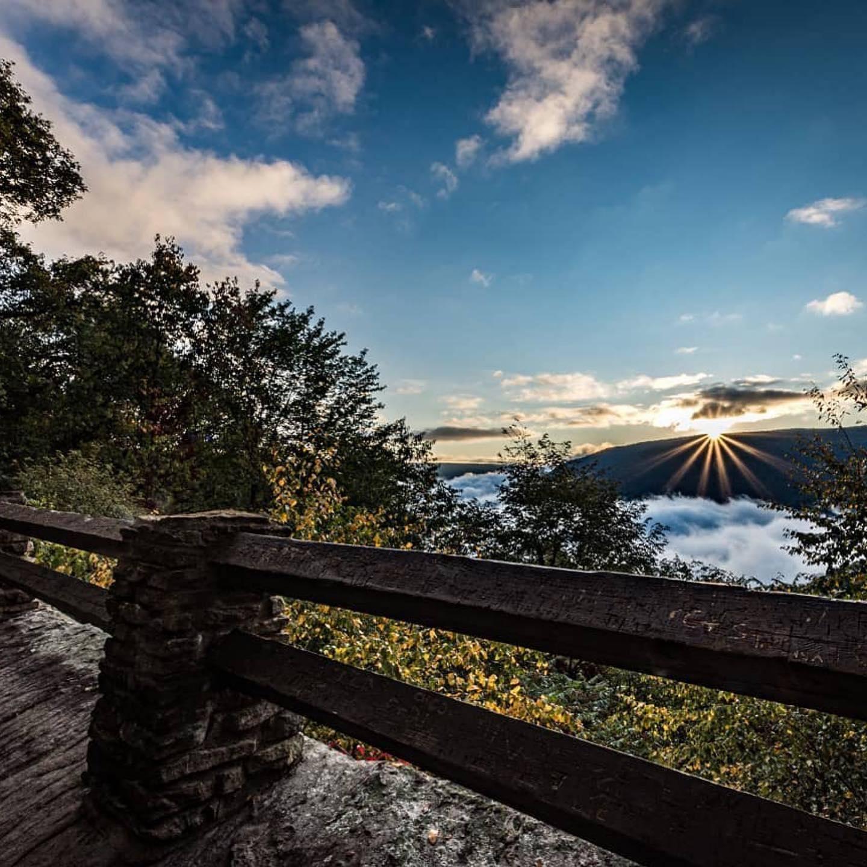 Sunrise in Ohiopyle State Park at Baughman Overlook