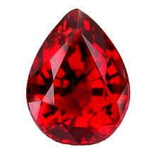 Rubis rouge poire