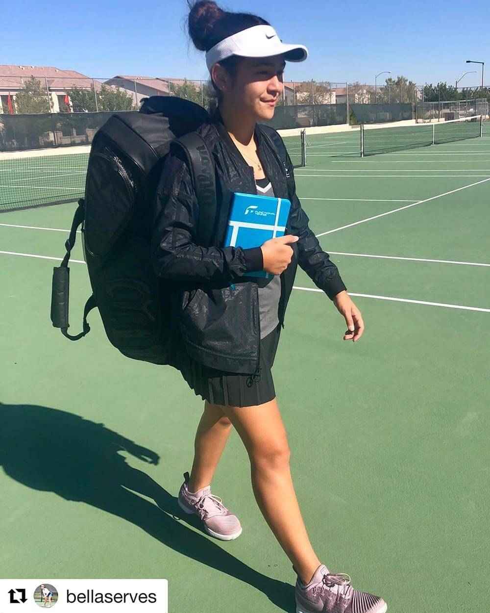 BellaServes with her Functional Tennis Journal