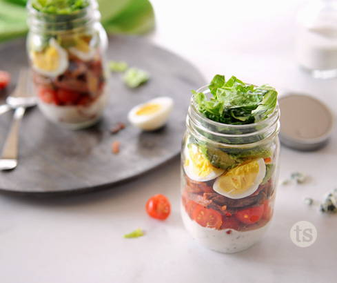 steak cobb salad jars