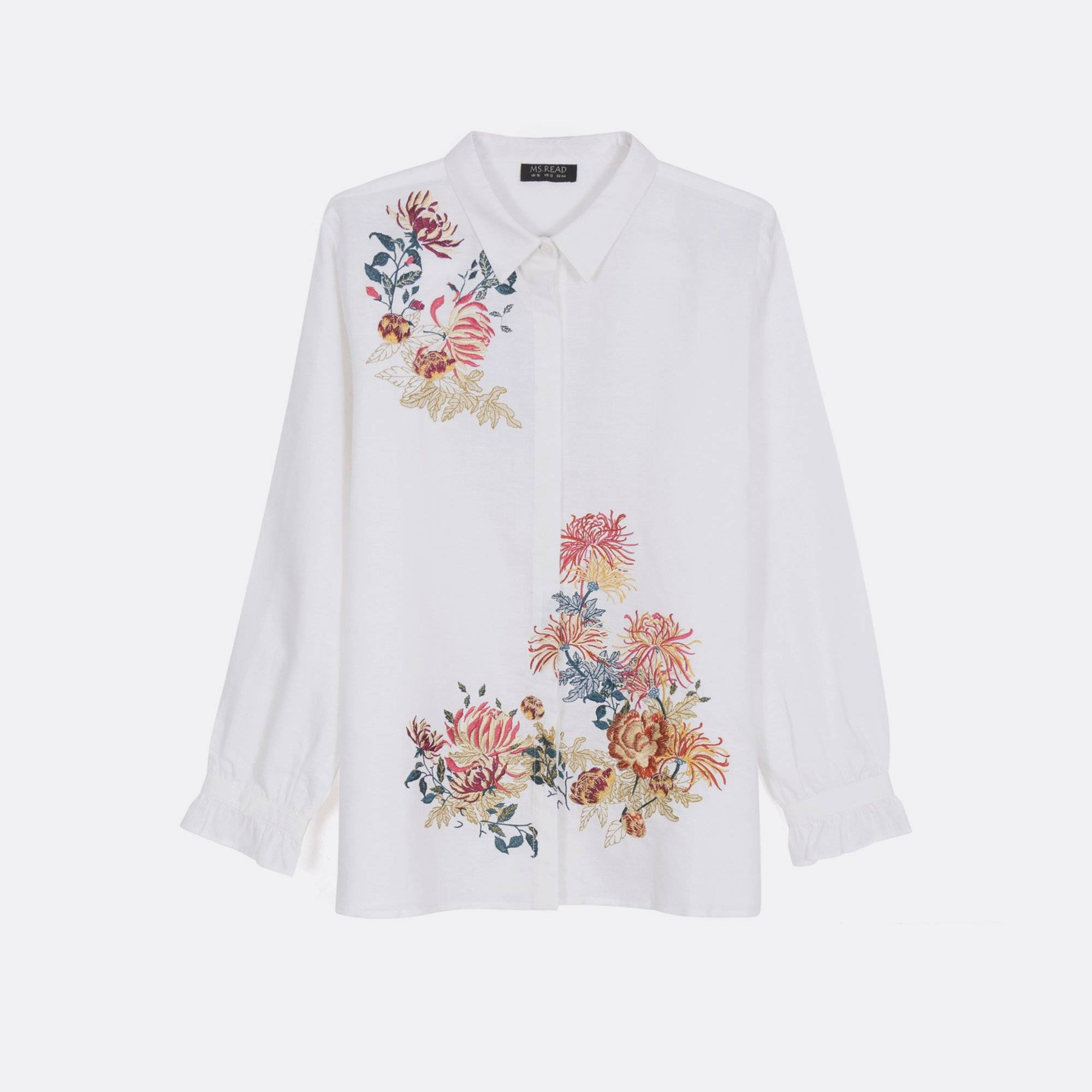 MS. READ Embroidered Linen Shirt