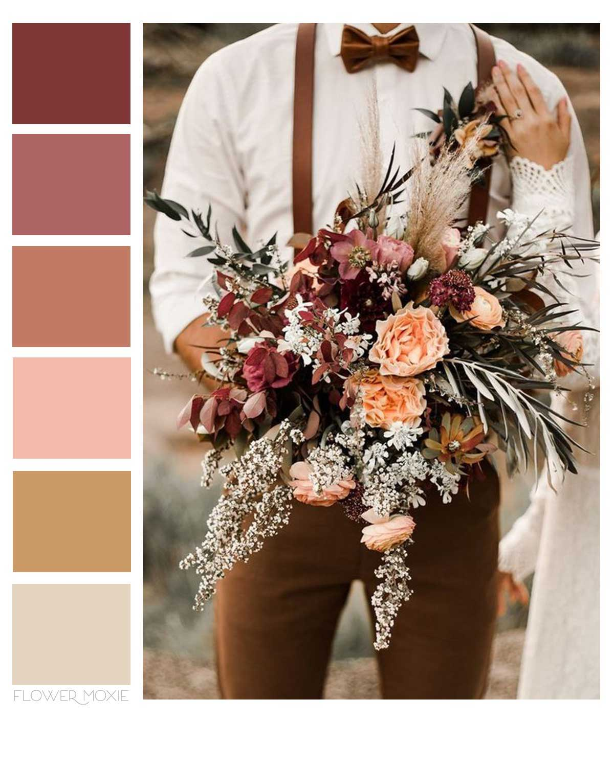 terracotta and earthy wedding flower packages