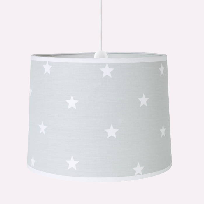 Ceiling lampshade with grey stardust print