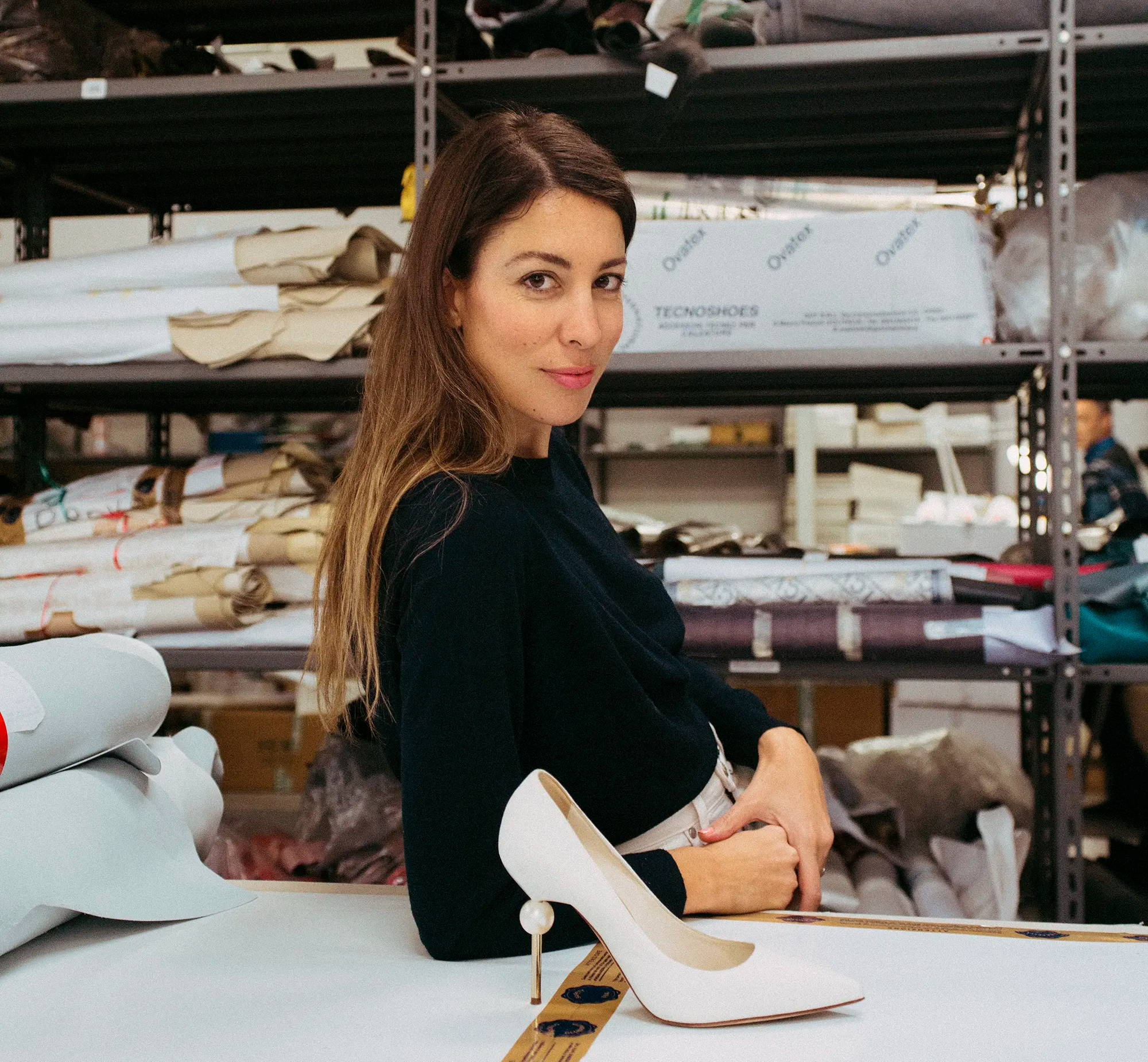 Camilla Gabrieli designer at shoe factory
