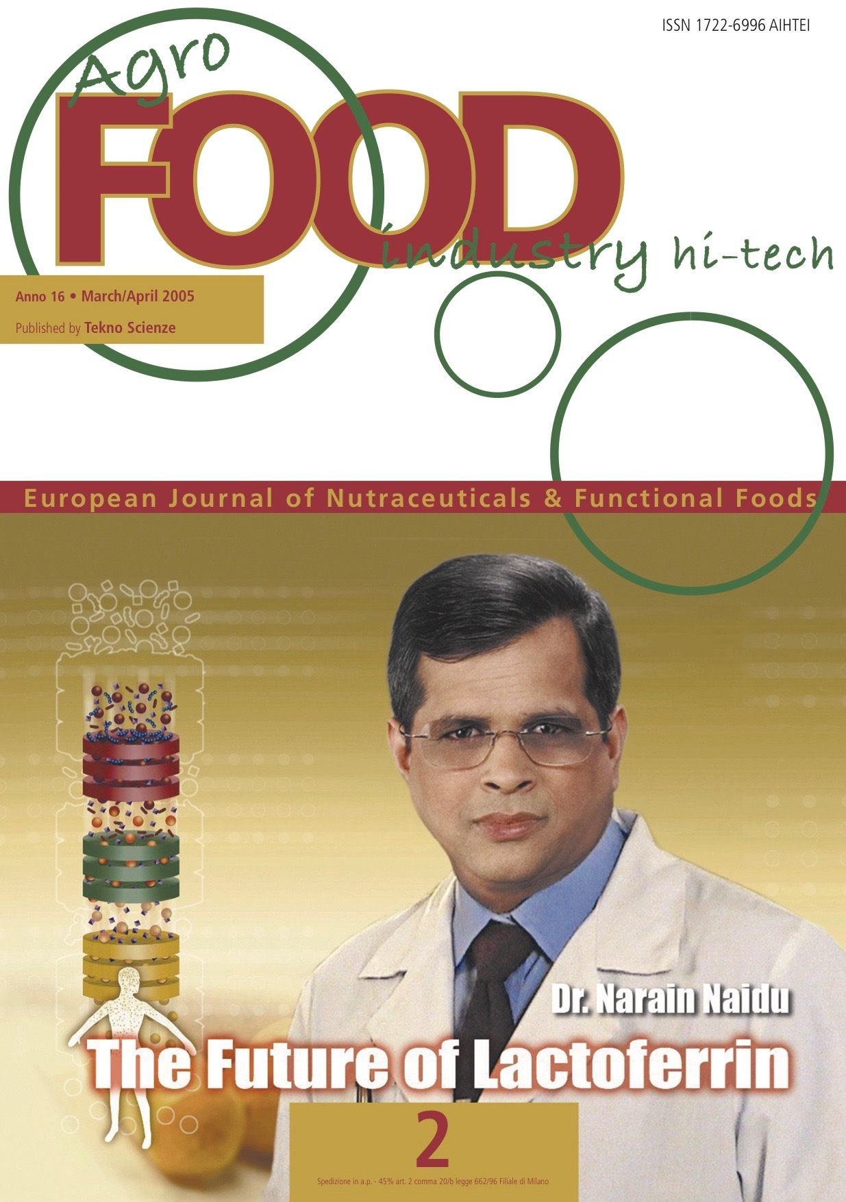 Agro Food Journal cover story - Dr. Naidu the future of lactoferrin