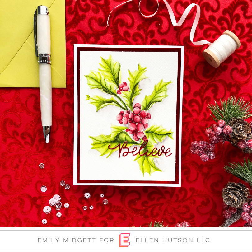 Essentials by Ellen Mondo Holly card by Emily Midgett