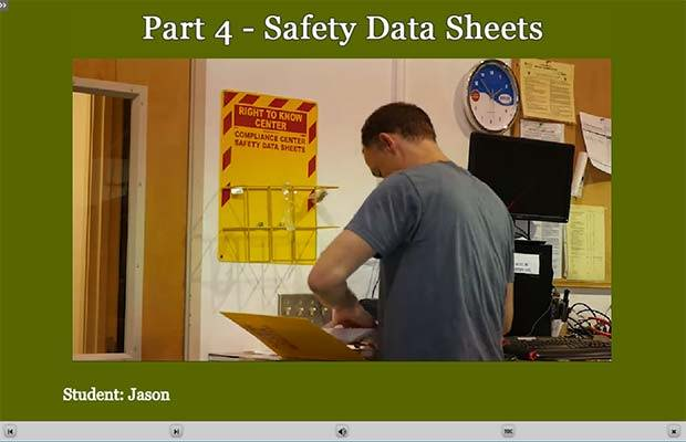 HazCom E-Learning Module Safety Data Sheets