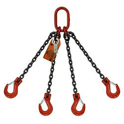 Four leg chain lifting sling