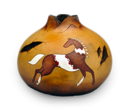 Use our Stick N Burn for Gorgeous Gourd Art Like this Example by Krystal Garrido