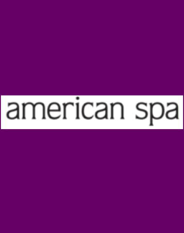 Purple rectangle icon with American Spa logo in center