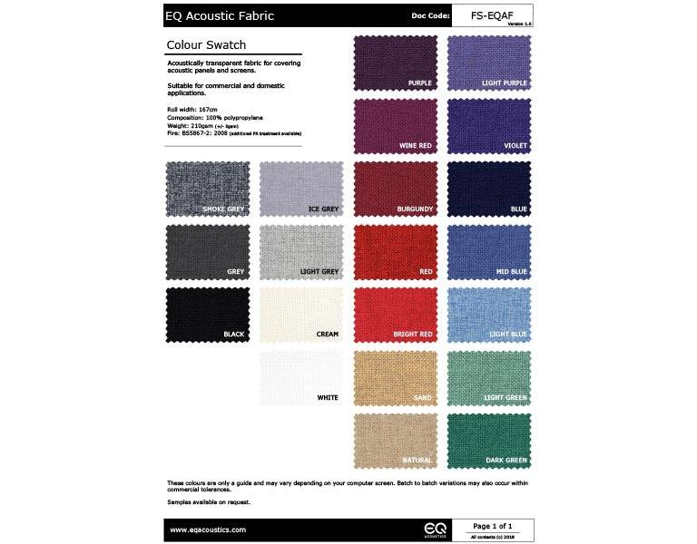 Click here to view the EQ Acoustic Fabric Swatch