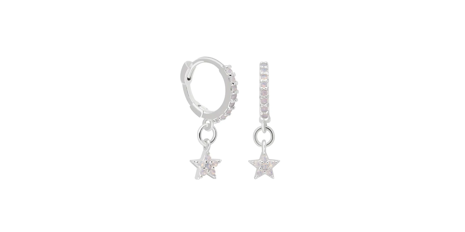 Star Huggies in Silver