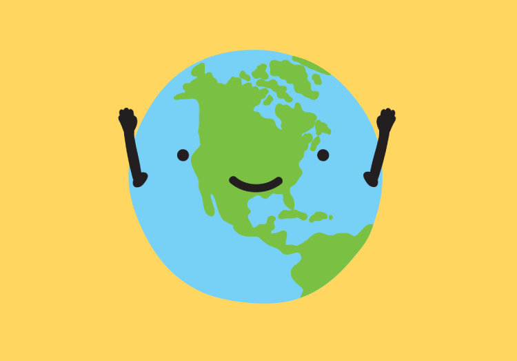 Image of a happy earth