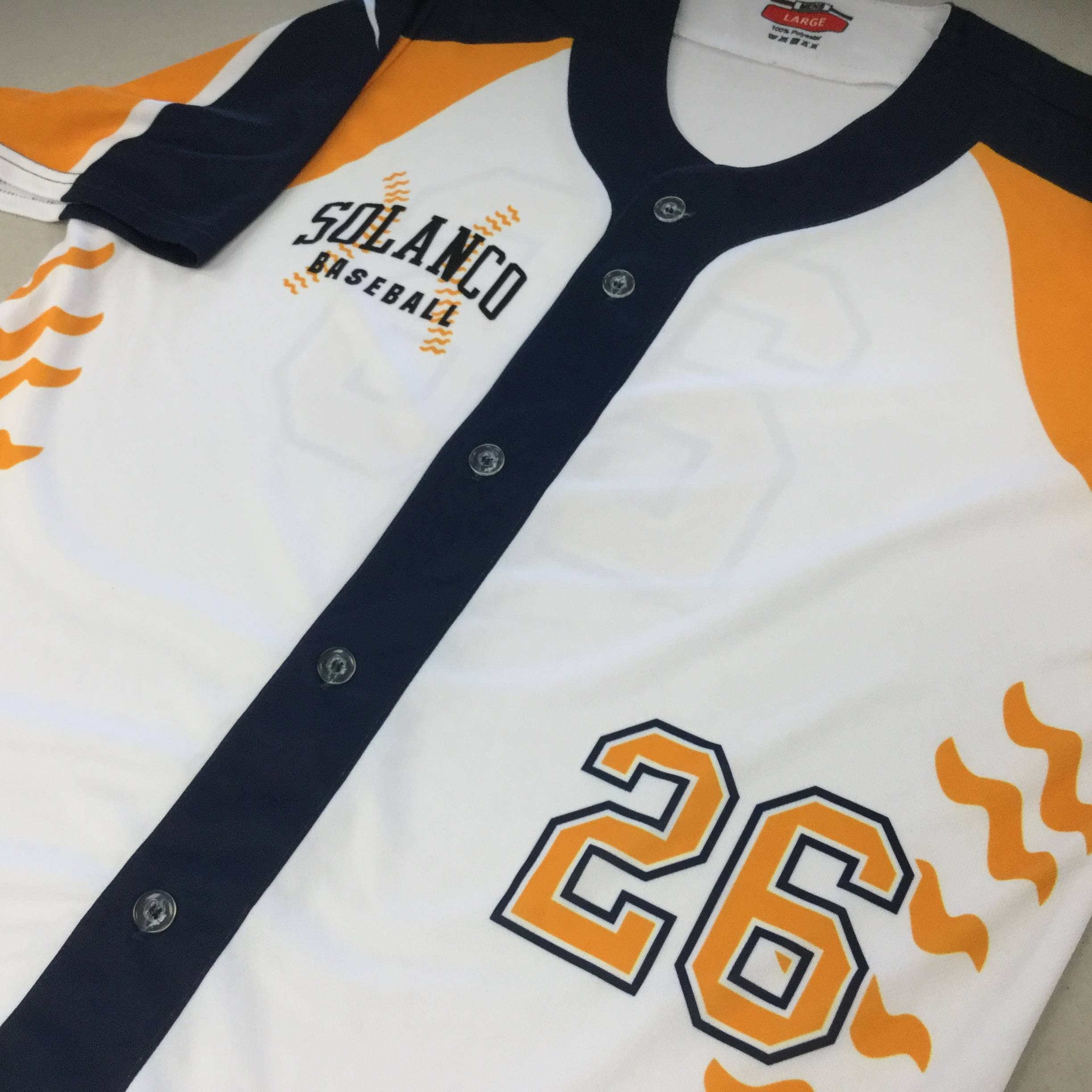 Custom Sublimated Full Button Baseball Jersey
