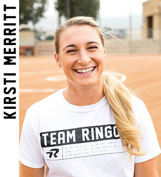 Professional softball player Kirsti Merritt.