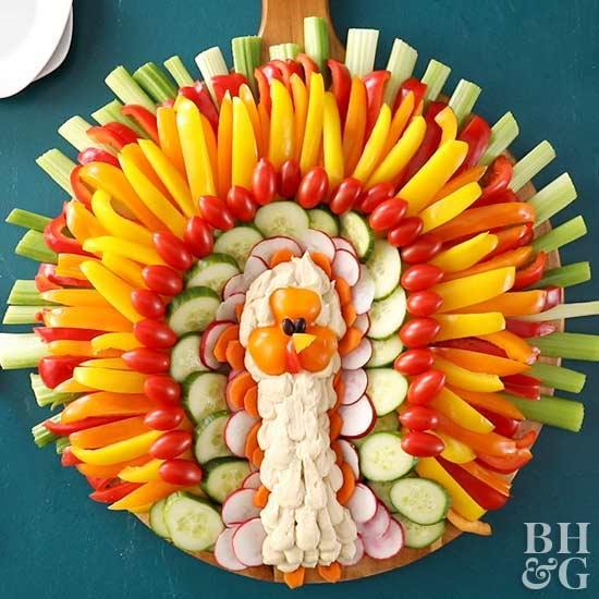 vegan-turkey-face-veggie-tray