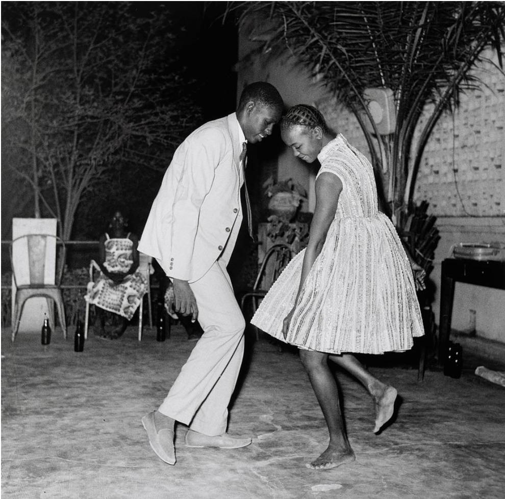 Couple dancing in Africa