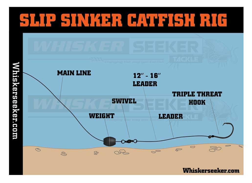 Catfish Rig - Slip Sinker - Whisker Seeker Tackle