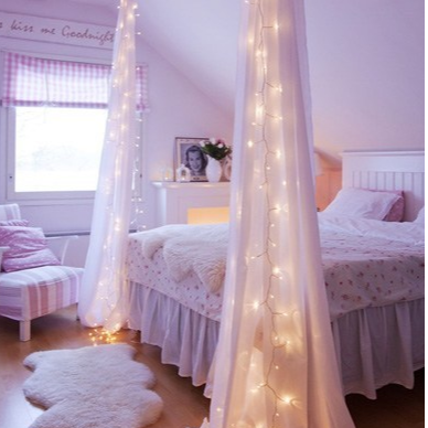 Bedroom Fairy Light Ideas From Vintage To Quirky Lights4fun Co Uk