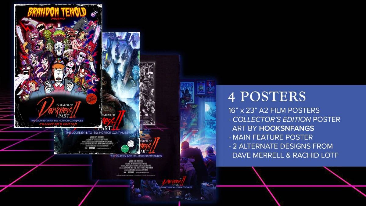 In Search of Darkness: Part II, Brandon Tenold Collector's Edition poster package