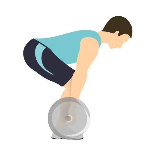 Darstellung der korrekten Deadlift-Startposition für einen Menschen mit kurzem Oberkörper