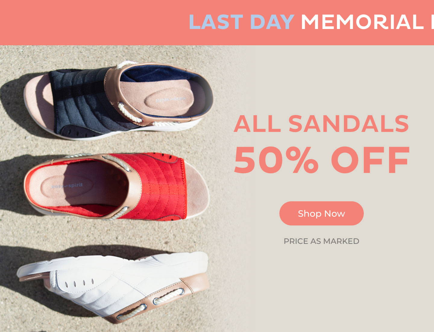 All Sandals 50% Off