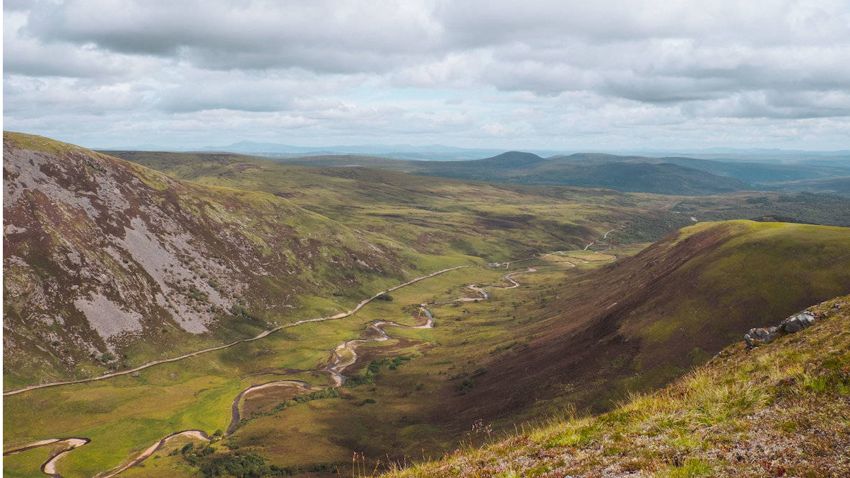 Glen Alladale from the high tops. The location for our reforesting Scotland project in the Highlands.