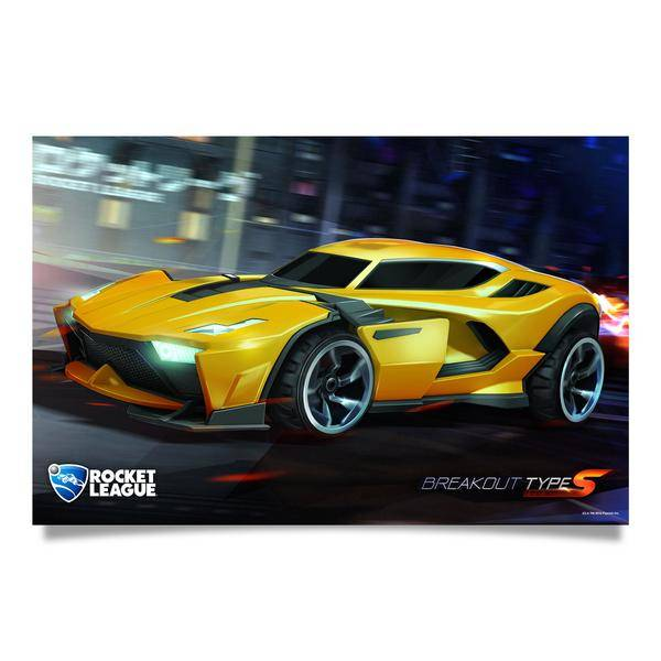 Product image of the Rocket League Breakout Poster
