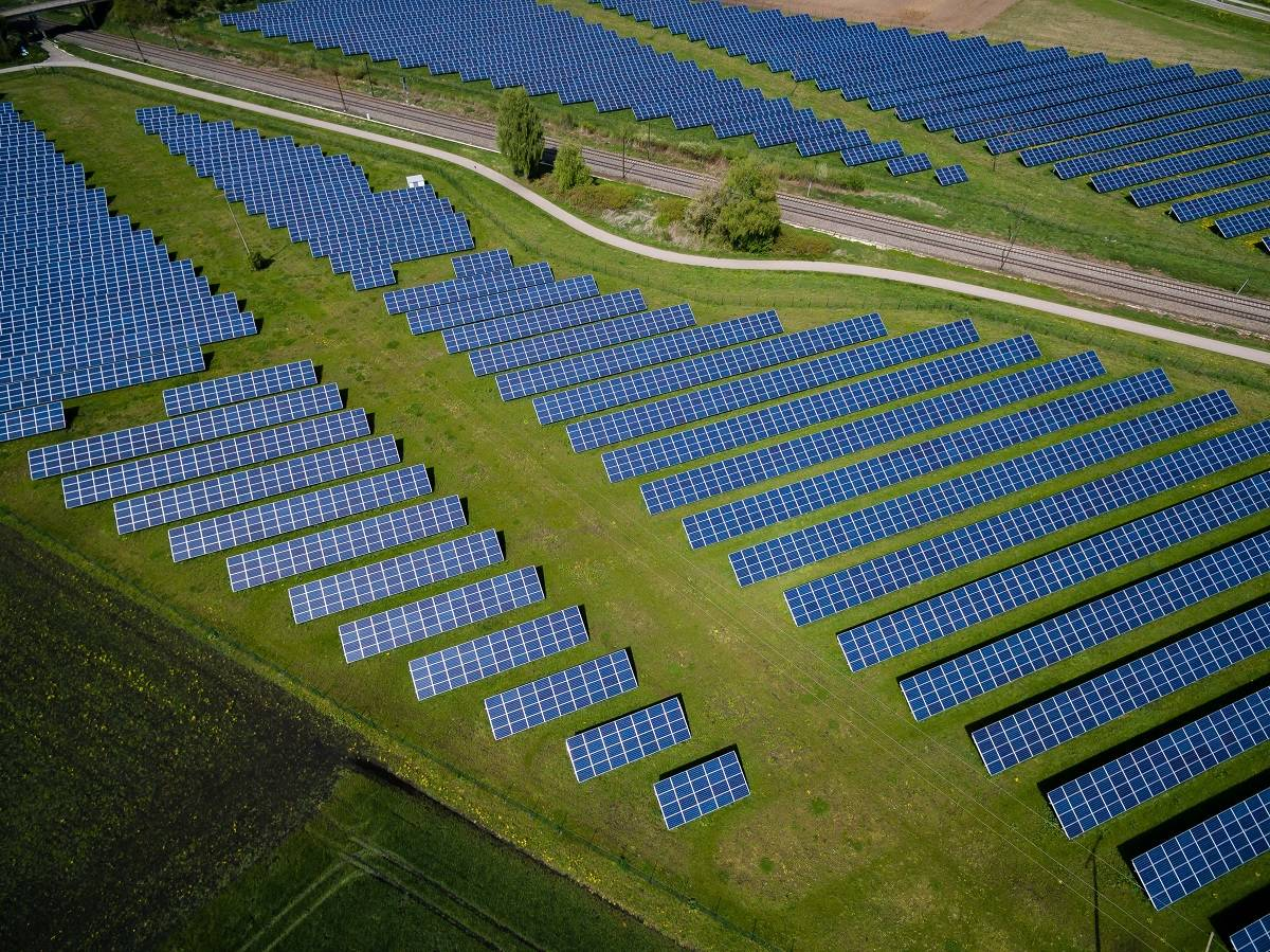 Solar energy on a large scale