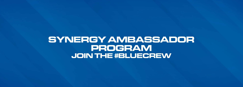 Synergy ambassador program sign up page #bluecrew