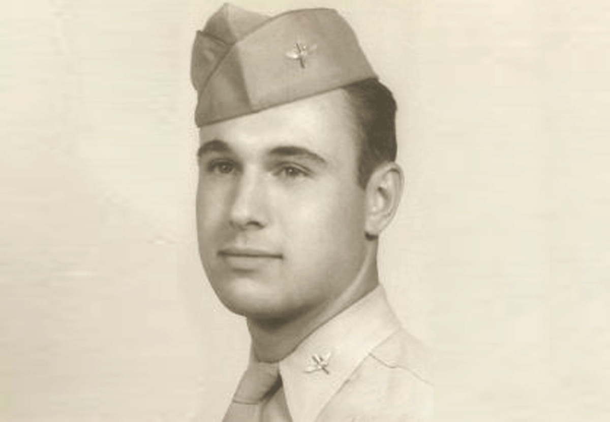 Photograph of Bill Winger during his service in the U.S. Army Air Corps during World War 2