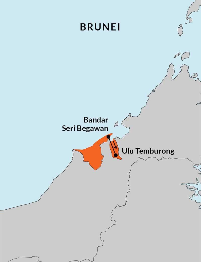 Travelbay Brunei Tours - 4 Day Royal Holiday Map