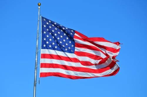 USA FLAG Sky Background