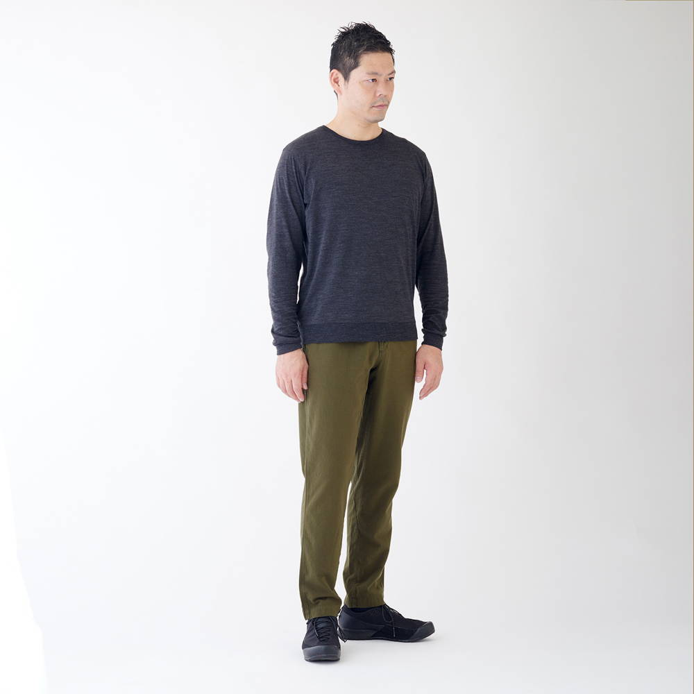 YAMAP(ヤマップ)/久留米かすりマウンテンパンツ無地/カーキ/UNISEX