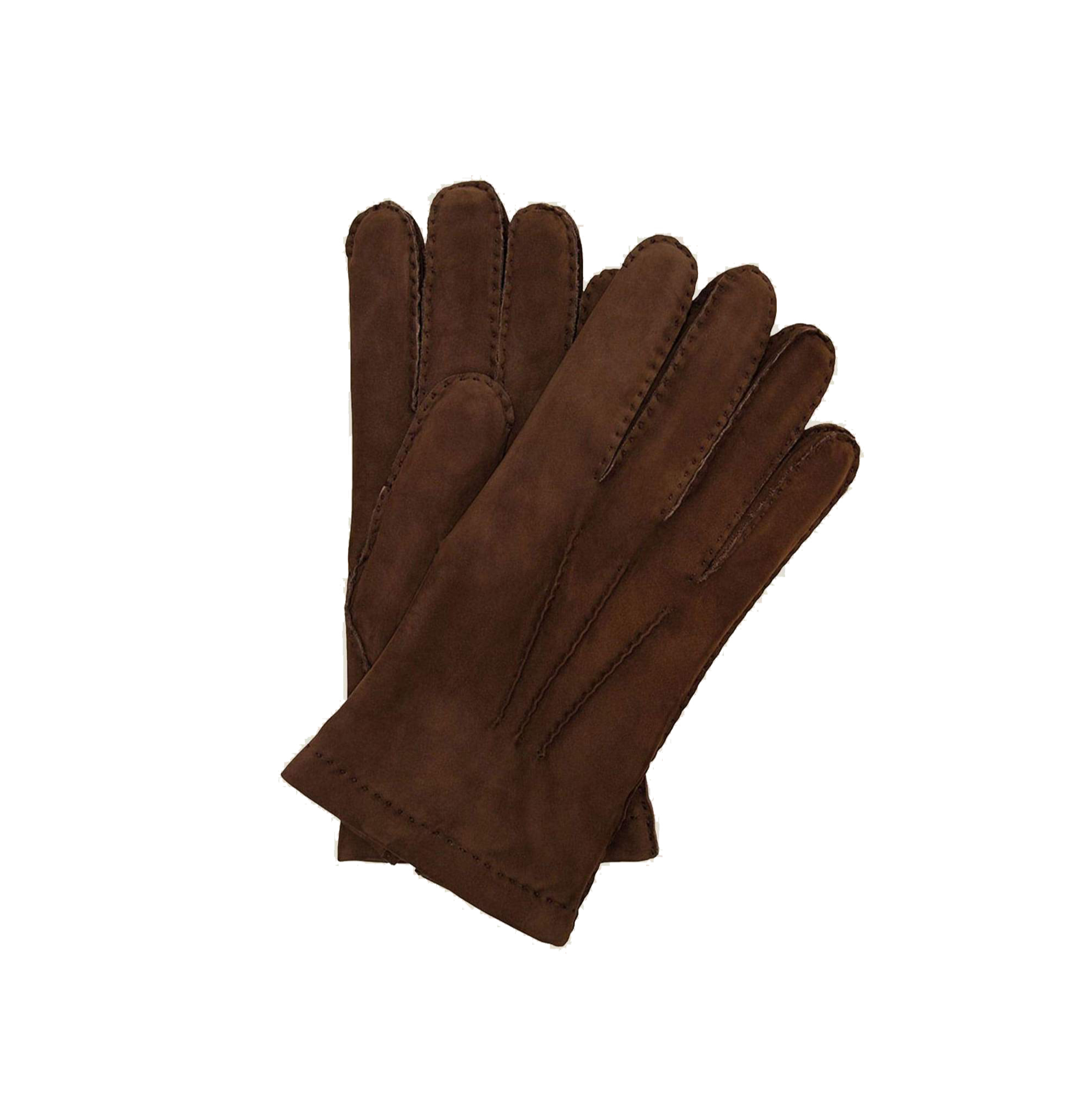 Luca Faloni Brown Leather Gloves Made in Italy