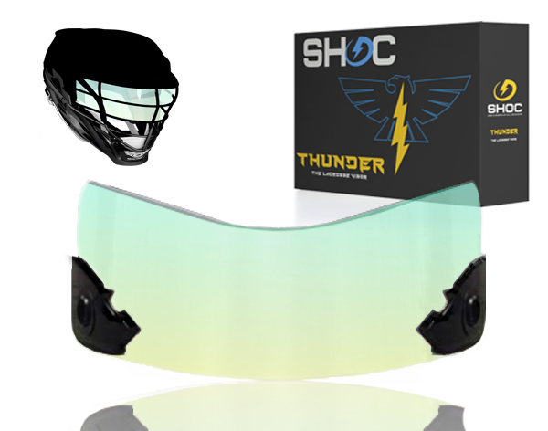 Lacrosse Visor by shoc - Clear Sky Iridium