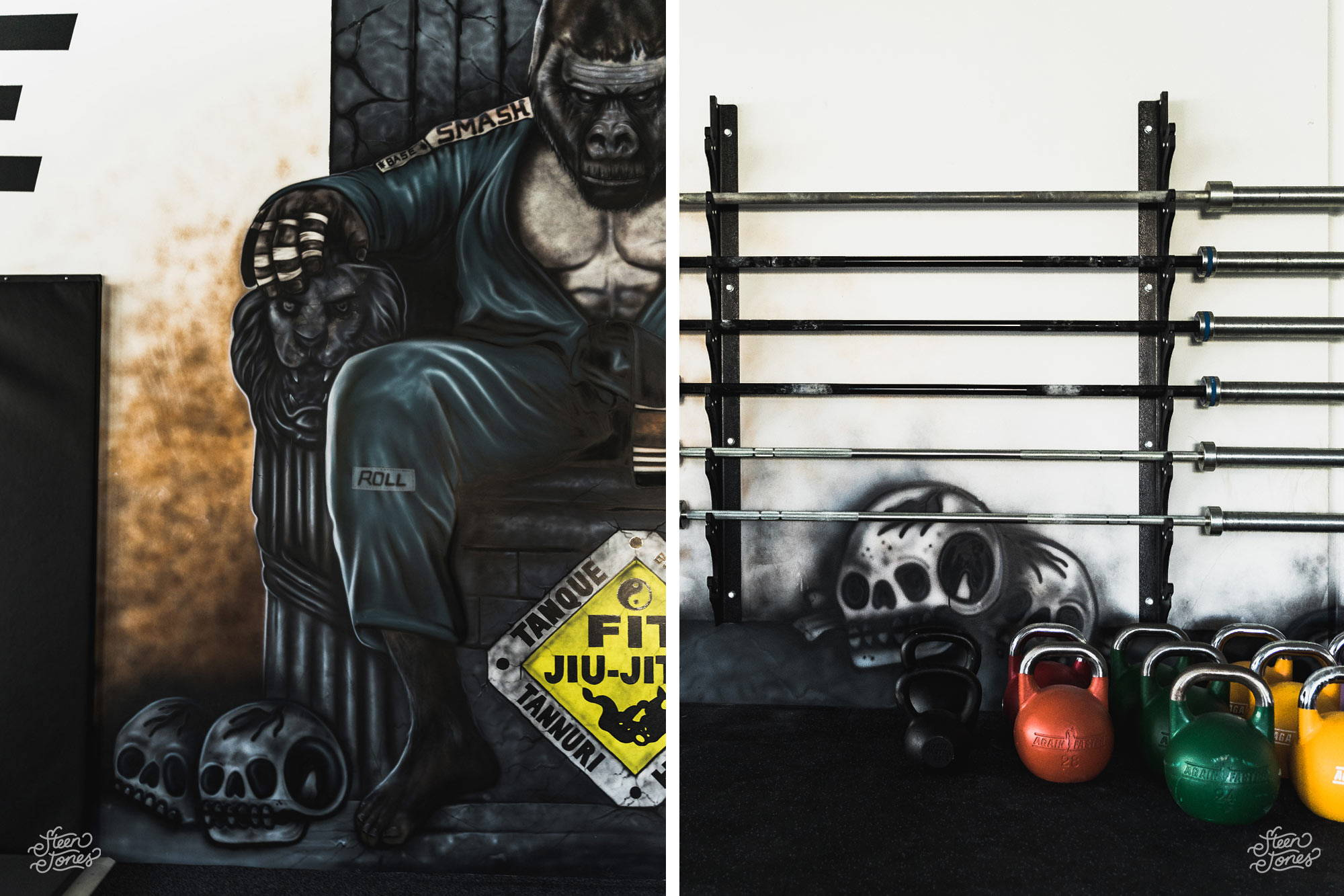 Steen Jones tattoo street artist Base Training Centre Ian Lowe Brisbane mural