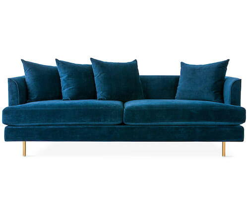 Gus Margot Sofa Midnight Blue Velvet