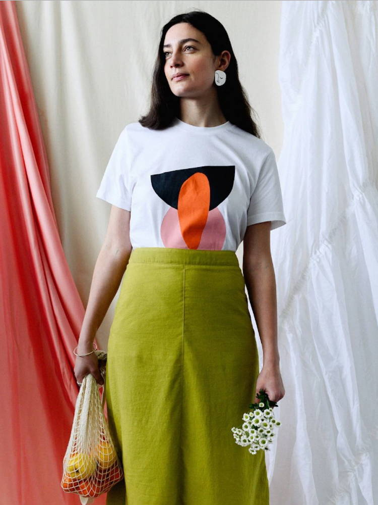 Birdsong Abstract Print Tee