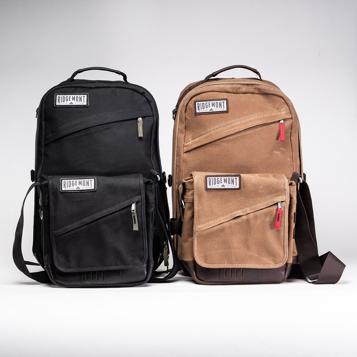 The Ranger Backpack and Roam Field Bags. In Brown or Black