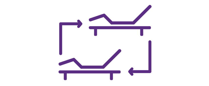 Icon for adjustable base synchronization
