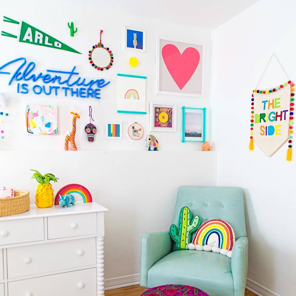 Brite Lite kids room adventure is out there neon sign