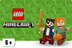 LEGO Minecraft hahmot Alex ja Steve