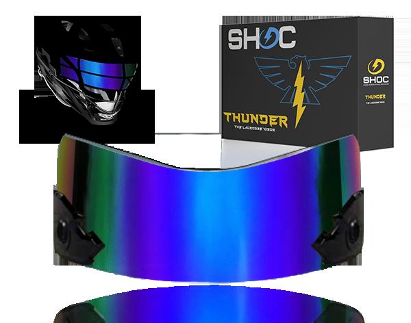 Lacrosse Visor by shoc - sapphire irridum