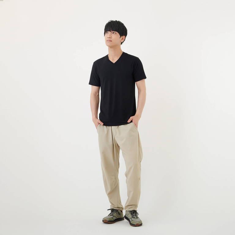 MXP(エムエックスピー)/ファインドライ ショートスリーブVネック/ブラック/MENS