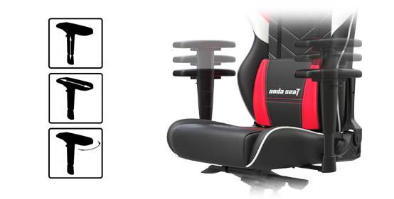 3d adjustable armrests