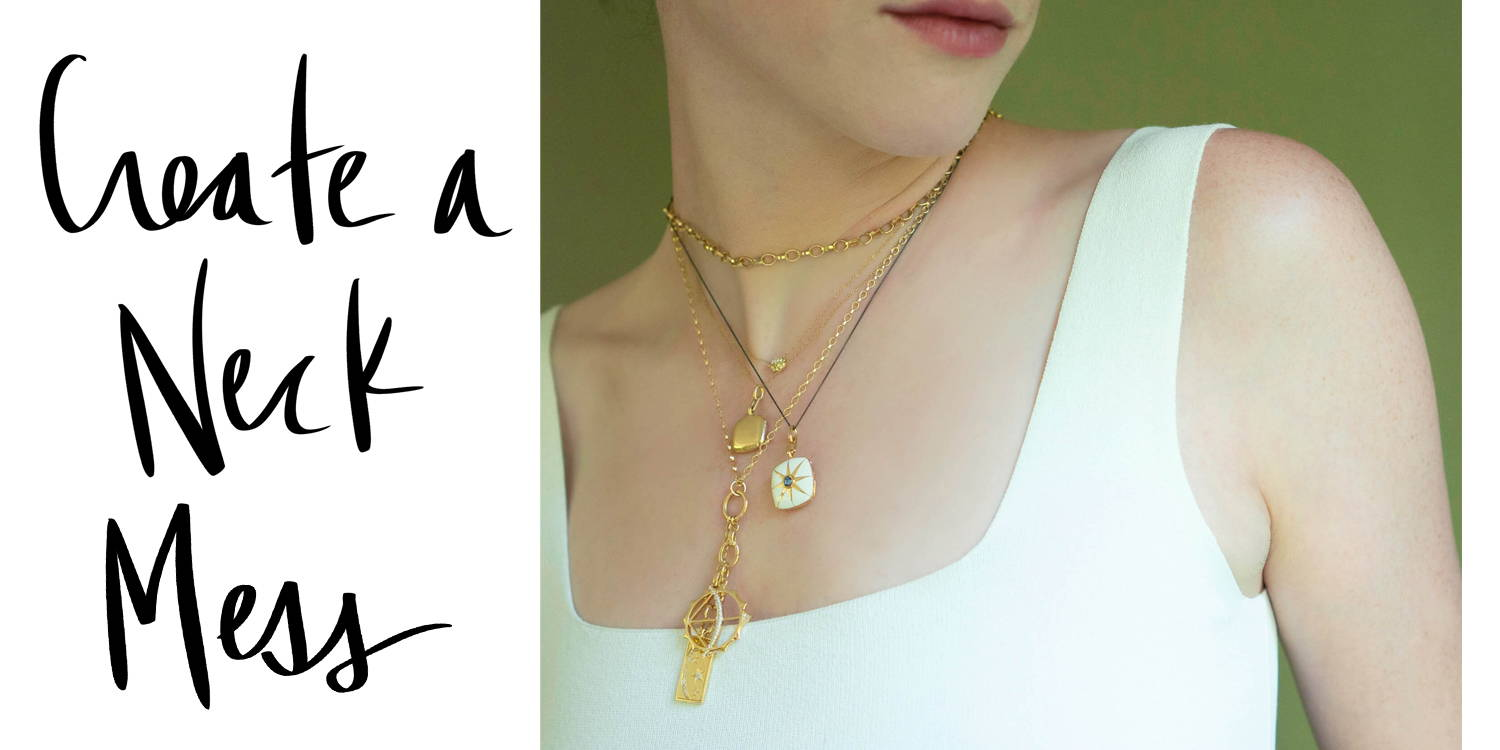 Layered necklaces 18k gold